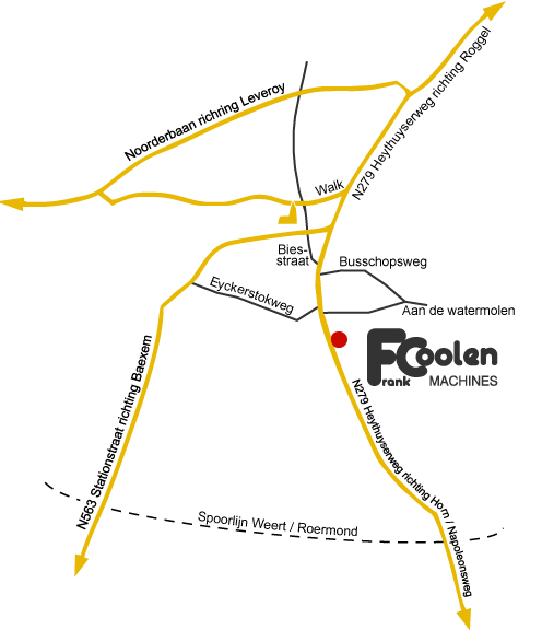 Routeplan - Frank Coolen Machines B.V.